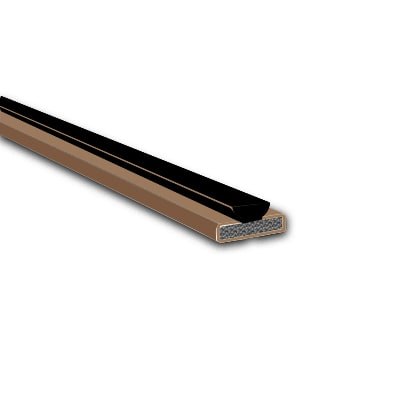 10x4mm Brush - 10 Pack - Pyroplex Fire & Smoke Intumescent Strip - 2100mm with Brush Pile - Brown