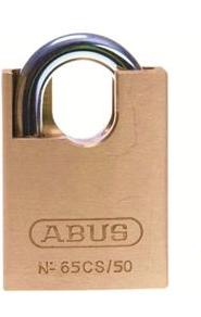 Abus 65CS/50 Series Close Shackle 50mm Brass Padlock