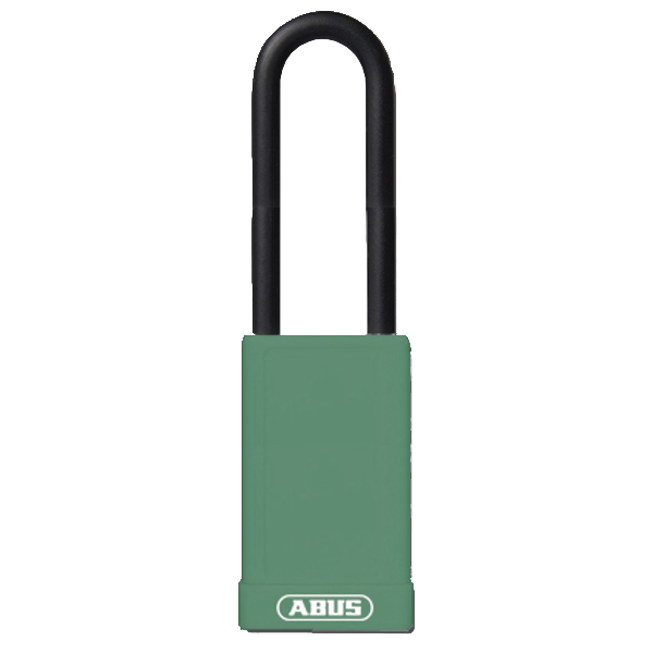 ABUS 74HB Series Long Shackle Lock Out Tag Out Coloured Aluminium Padlock