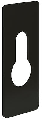 ALPRO Euro Escutcheon - Black