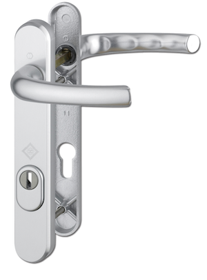HOPPE Door Furniture PAS24 Atlanta 92mm Centres 122mm Screw Centres - Silver