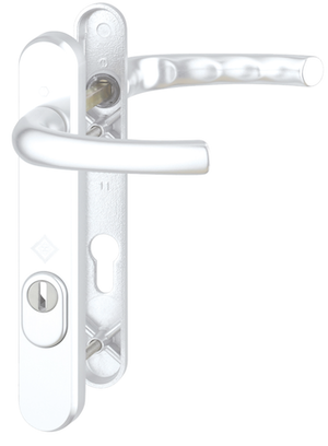 HOPPE Door Furniture PAS24 Atlanta 92mm Centres 122mm Screw Centres - White