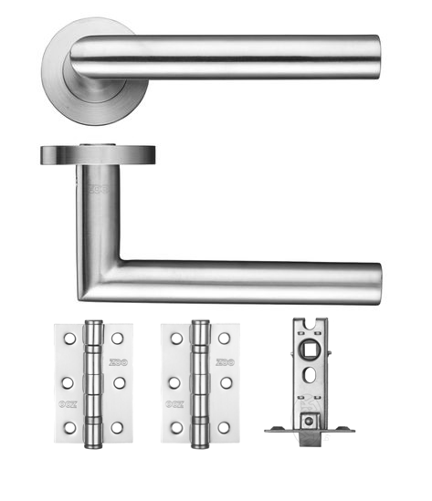 Miltred Latch Lever On Rose Door Kit