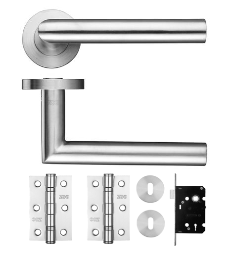 Miltred Lock Lever On Rose Door Kit