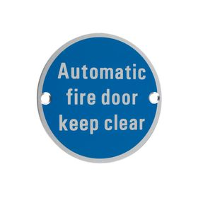 Signage - Automatic Fire Door Keep Clear