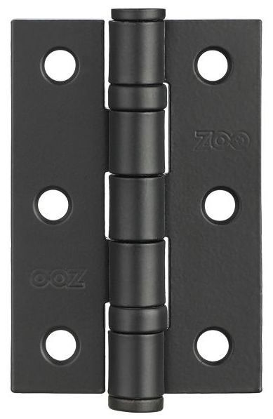Zoo ZHS32PCB - 3'' Ball Bearing Hinge - Powder Coated Black