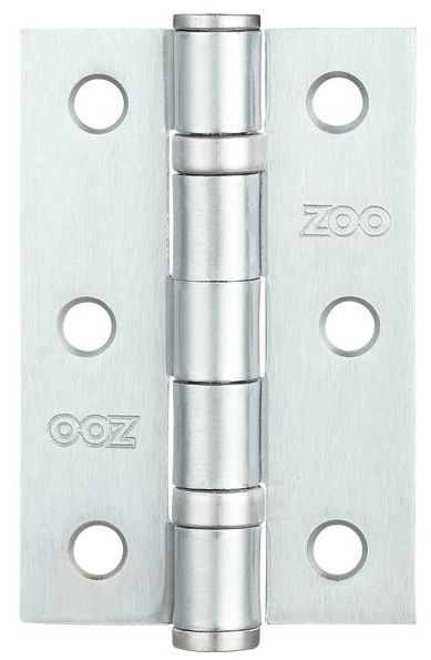Zoo ZHS32SC - 3'' Ball Bearing Hinge - Satin Chrome